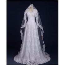 Vestido Noiva Casamento Manga Longa Comprida Pronta Entrega