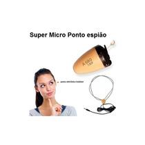 Mini Micro Escuta Ponto Eletronico Espião Ouvido Invisível