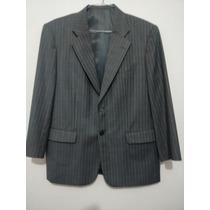 Terno Superior Wool Lã Fria Risca De Giz 120