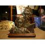 Antiguo Busto De Bronce De Don Quijote Y Sancho Panza