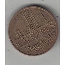 Francia Moneda De 10 Francos Año 1980 !!!