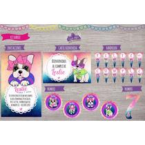 Kit Impreso Simones Cumpleaños Invitaciones, Stickers Cartel