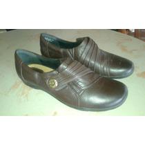 Zapatos Calzado Cómodos Casuales Dama Clarks Cuero Marron