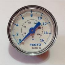 Manómetro Aire Comprimido Festo 0 A 16 Bar Presión 200 Psi