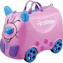 Mala De Viagem Infantil Caravana Rosa - Batiki