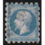 Francia, Antiguo Sello Clasico Yvert N°29a Dentado Pico 1863