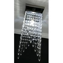 Luminária Plafon Lustre De Cristal Acrílico Sala Escada Hall