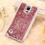 Capinha Capa Galaxy Note 3 4 Aquario Pink Glitter Agua Luxo