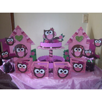 Figuras En Anime O Mdf De Buhos . Decoracion De Baby Shower