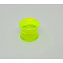 Alargador 10mm Plug Acrílico Verde Neon
