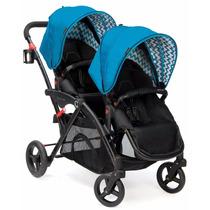 Carrinho Bebe Duplo Contours Elite Tandem Stroller - Azul