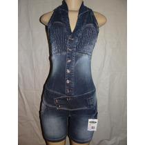Macaquinho Jeans Feminino Marca Ri.19