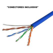 Cable Utp Por Metros Cat5e + Conectores Rj45