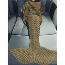 Cobertor Frasada Colas De Sirena Tejidas
