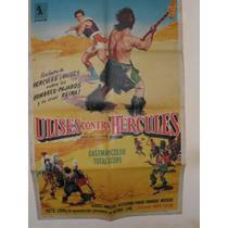 Poster Pelicula * Ulises Contra Hercules *año 1962 Original