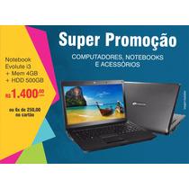Notebook Evolute Sfx-65b Com Intel Core I3 - 4gb 500gb Lcd 1