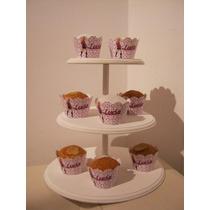 Bandeja Porta Cupcakes/cookies Sin Pintar- Zona Norte