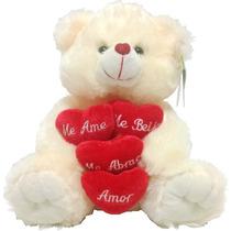 Urso De Pelúcia Grande Lindíssimo Coração! Pronta Entrega!