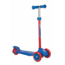 Patinete Três Rodas Skatenet Suporta 70kg - Azul Fênix