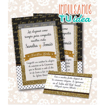 Invitación De Boda Para Imprimir - Tarjeta Y Personal S Y T