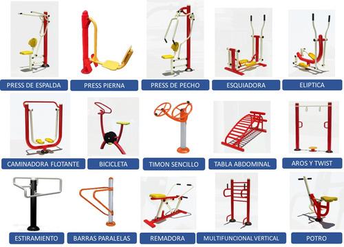 Paquete completo gimnasios al aire libre 158 en for Gimnasios baratos