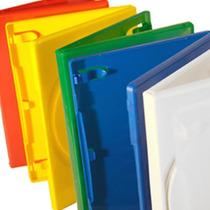 50 Estuches Dvd 14mm Varios Colores Resistentes Y De Calidad