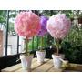 Topiarios, Arbolitos Con Flores De Tela. Hermosos!de Calidad
