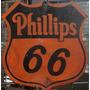 Cartel De Chapa Antiguo Phillips 66