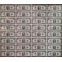 Planilla De 32 Billetes De 2 Dolares Sin Cortar