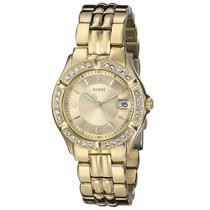 Reloj Guess Original Mujeres Tono Dorado Envío Gratis.