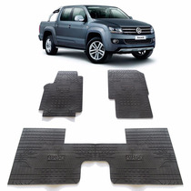 Tapete Interno Reforçado Volkswagen Amarok Com Porta Copos