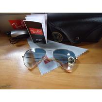 Oculos De Sol 3026 Large Dourado Azul Degrade Original