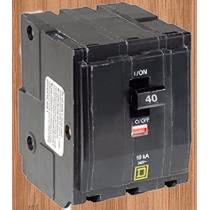 Interruptor Termico Qo 3 X 40 Amp Mod Qo340 Square D