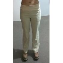 Pantalón Mujer Importado Lino Oxford Sin Cierre Ni Boton