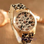 Reloj Geneva Silicona Leopardo Animal Print Por Mayor