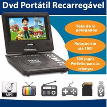 Dvd Portatil Tv 9 Bolsa E Games C/ 2 Joystick - Tv Digital