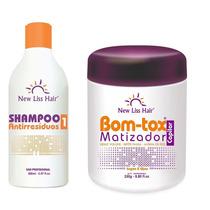 Botox Matizador 250g + Shampoo New Liss Hair Regenerar Nutri