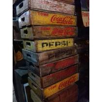 Caja Antiguas De Refresco, Coca-cola Y Pepsi