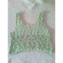 Top Tejido A Crochet Para Nenas