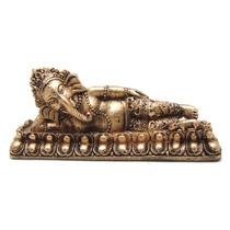 Ganesha Deusa Da Prosperidade Deitada Estatueta - Estatua