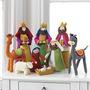 Pesebre Tela Grande De Navidad Juego De Natividad, 9 Unidad