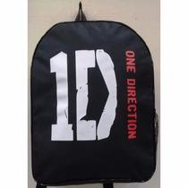 Mochila Mala One Direction Banda Rock Nylon Escolar Grande
