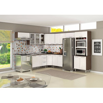 Cozinha Modulada 100% Mdf Nicioli 8 Peças Armário Balcão