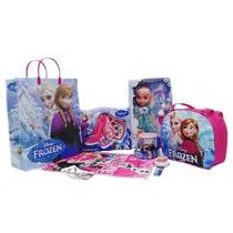 Kit Aniversário Frozen Brinquedo Infantil Maquiagem Boneca