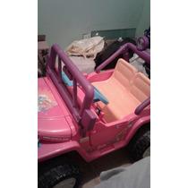 Carro Jeep Barbie Para Niña A Bateria