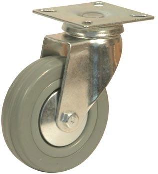ruedas de goma gris giratorias juego x 4 para muebles - $ 200,00 ... - Ruedas Para Mesa