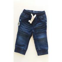 Calça Jeans Cós Elástico Tigor T. Tigre Baby Tam.1p 12.16m
