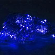 Pisca-pisca Natalino 100 Lâmpadas Led Luz Azul