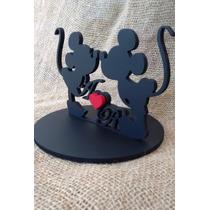 Promocional Topo De Bolo Mdf Mickey E Minnie *-*
