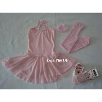 Kit Roupa Para Aulas De Bale Ballet Infantil